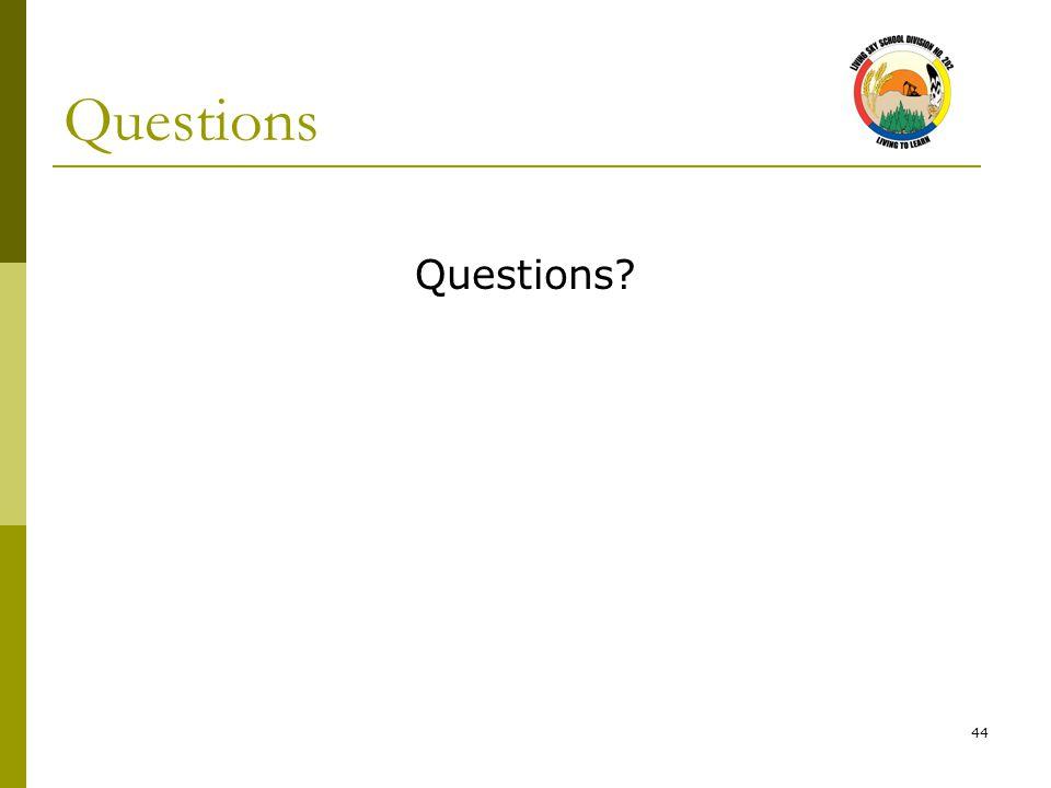 44 Questions Questions