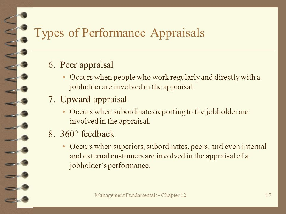 Management Fundamentals - Chapter 1217 Types of Performance Appraisals 6.