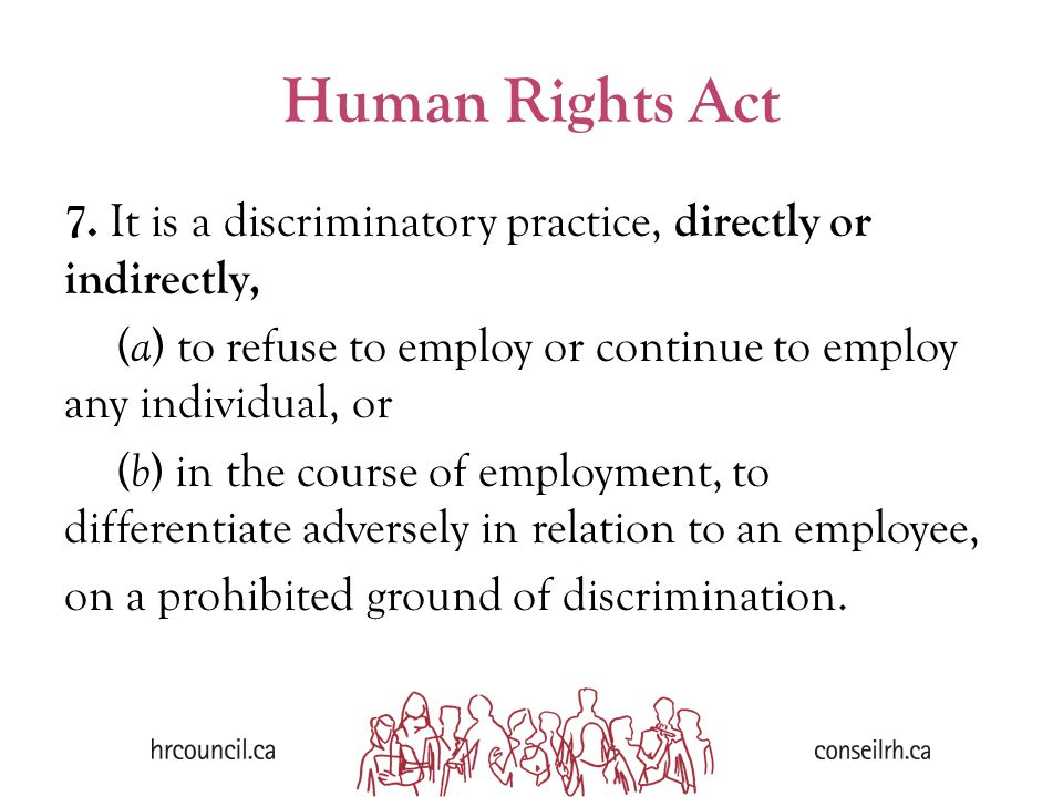 Human Rights Act 7.