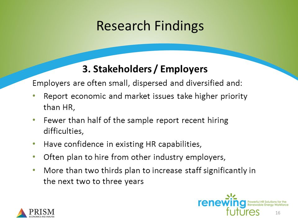16 Research Findings 3.