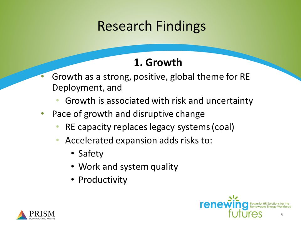 5 Research Findings 1.