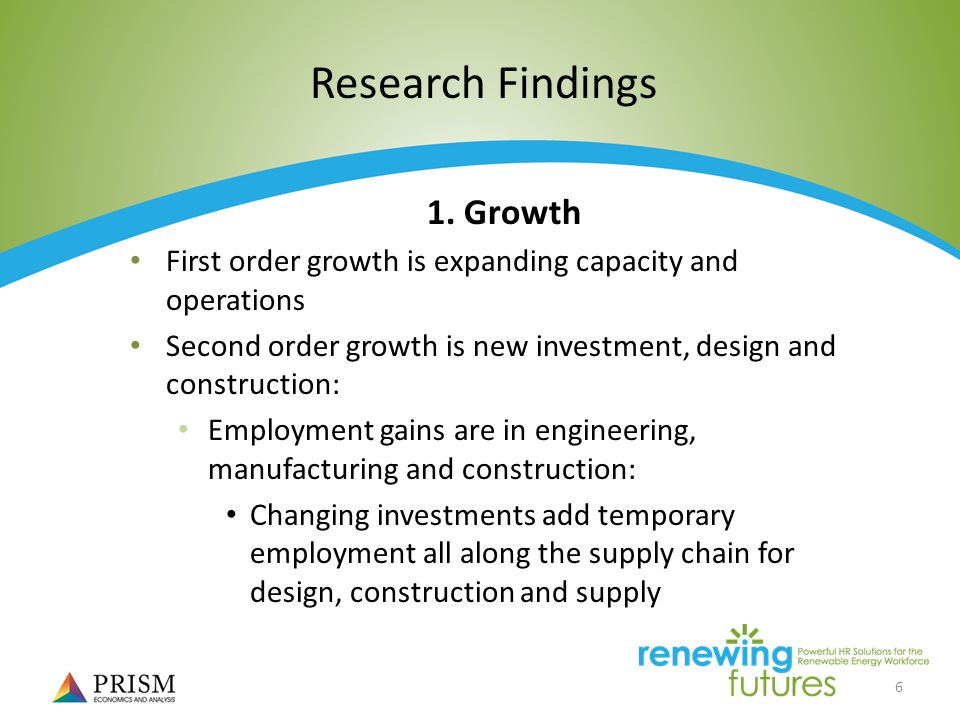 6 Research Findings 1.