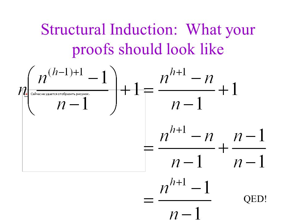 Structural Induction: What your proofs should look like QED!