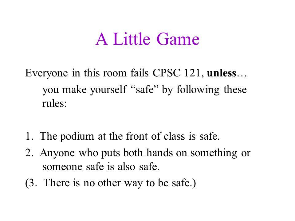 How do you make everyone safe? Podium