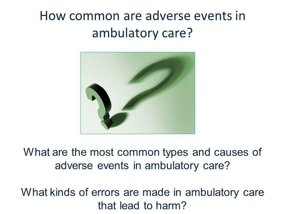 How common are adverse events in ambulatory care.