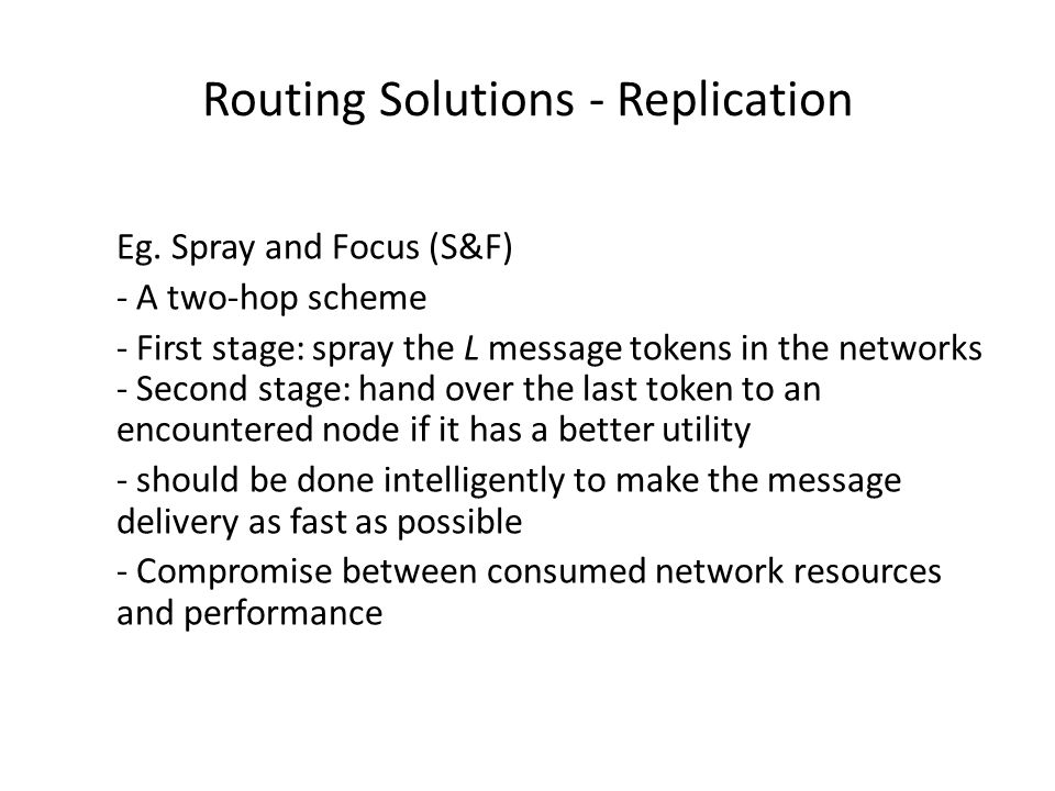 Routing Solutions - Replication Eg.