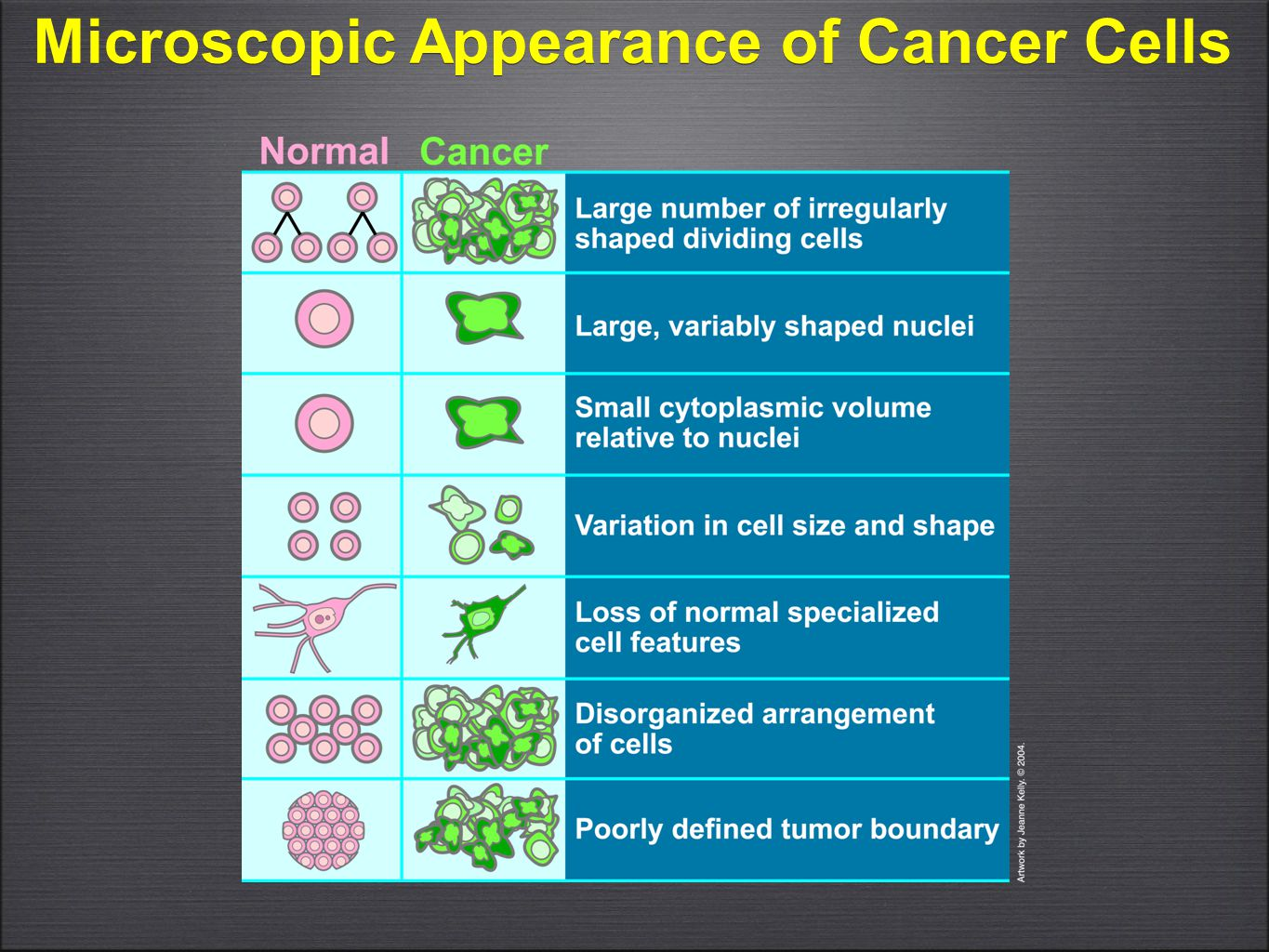 Microscopic Appearance of Cancer Cells