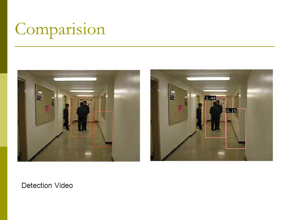 Comparision Detection Video