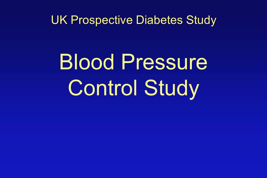 Blood Pressure Control Study UK Prospective Diabetes Study