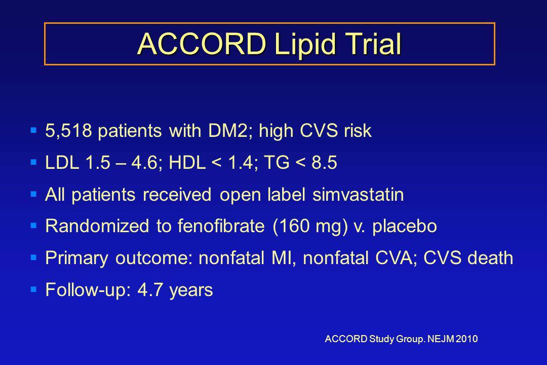 ACCORD Lipid Trial ACCORD Study Group.