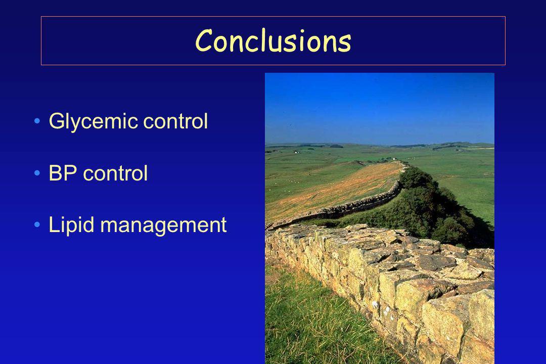 Glycemic control BP control Lipid management Conclusions