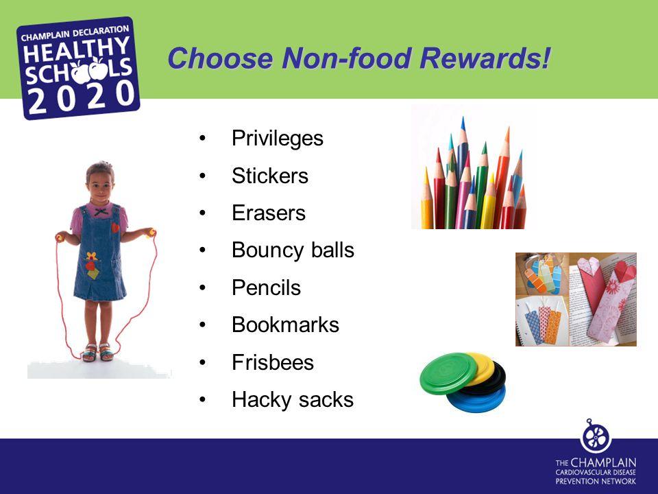 Choose Non-food Rewards.