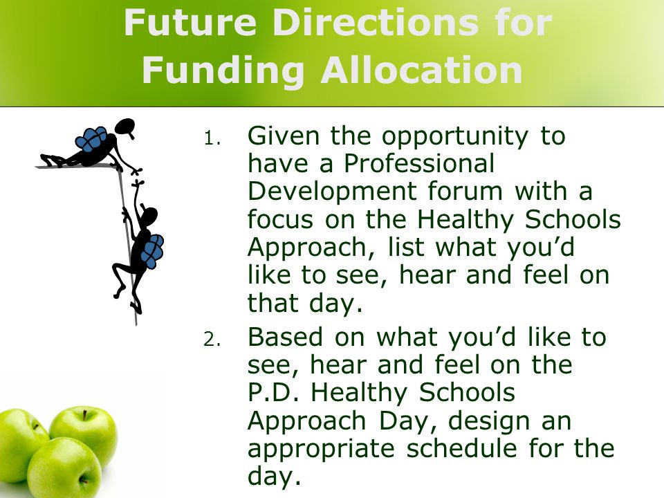 Future Directions for Funding Allocation 1.