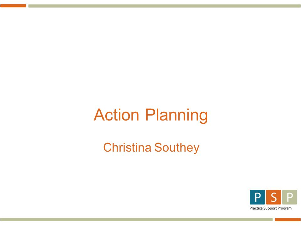 Action Planning Christina Southey