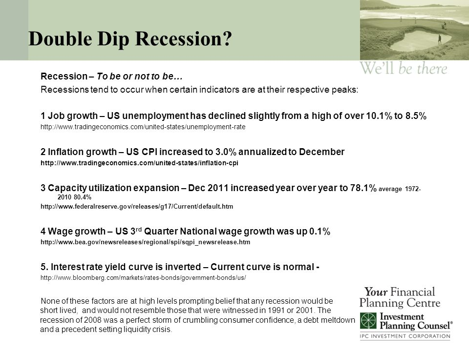 Double Dip Recession.