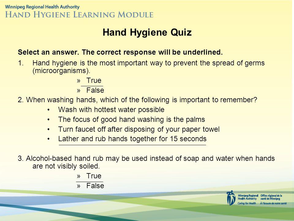 health and hygiene quiz ~ Inspirenow