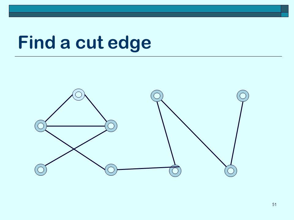 Find a cut edge 51
