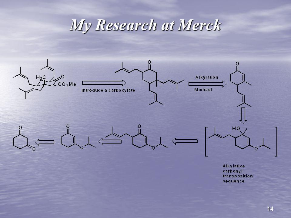 14 My Research at Merck