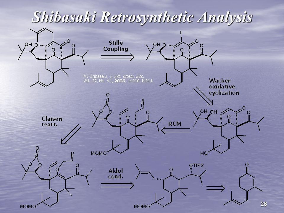 26 Shibasaki Retrosynthetic Analysis