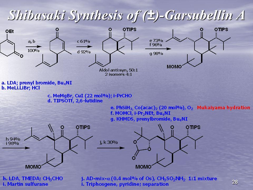 28 Shibasaki Synthesis of (±)-Garsubellin A