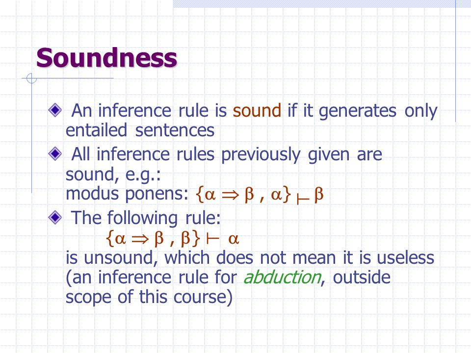  Connective symbol (implication) Logical entailment Inference  KB  iff KB   is valid