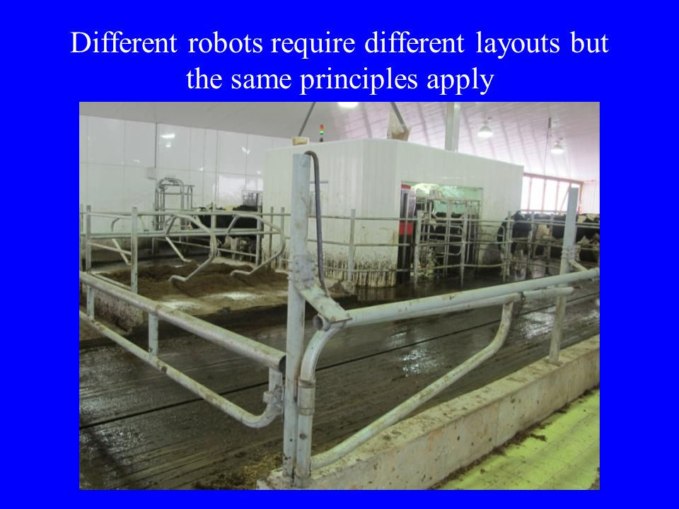 Different robots require different layouts but the same principles apply
