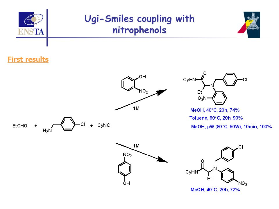 Ugi-Smiles coupling with nitrophenols First results