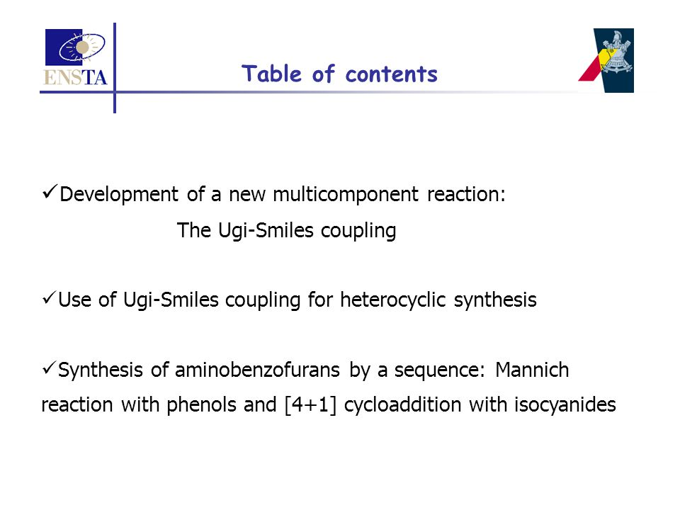 Ugi-Smiles coupling with nitrophenols Variation of the nitrophenol component