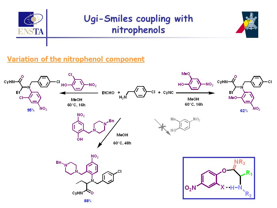 Ugi-Smiles coupling with nitrophenols Variation of the nitrophenol component
