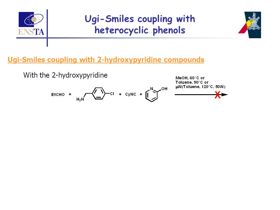 Ugi-Smiles coupling with 2-hydroxypyridine compounds With the 2-hydroxypyridine Ugi-Smiles coupling with heterocyclic phenols