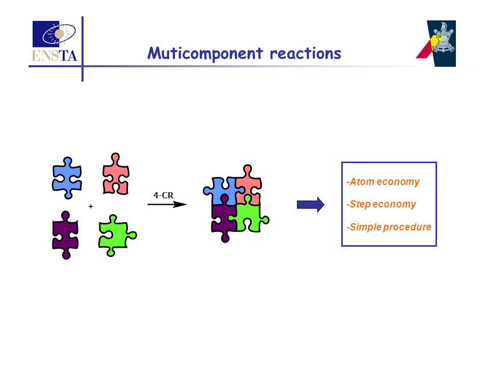 4-CR -Atom economy -Step economy -Simple procedure + Muticomponent reactions