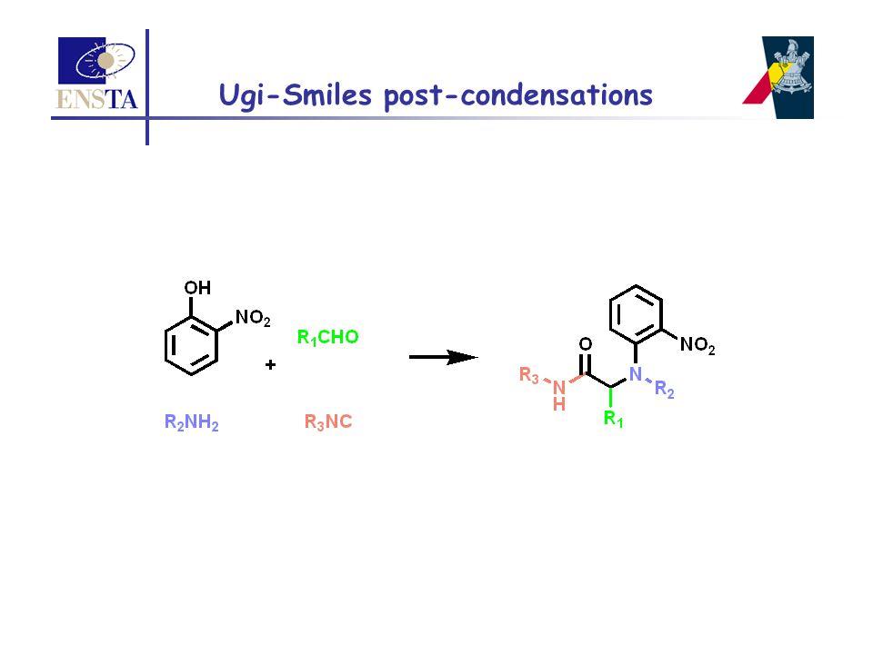 Ugi-Smiles post-condensations