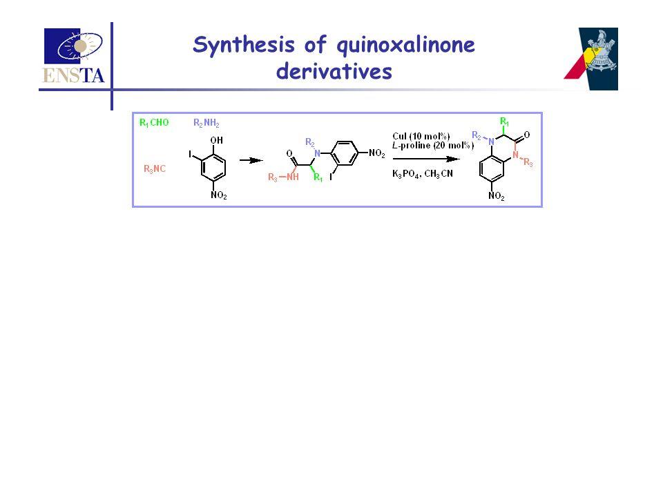 Synthesis of quinoxalinone derivatives