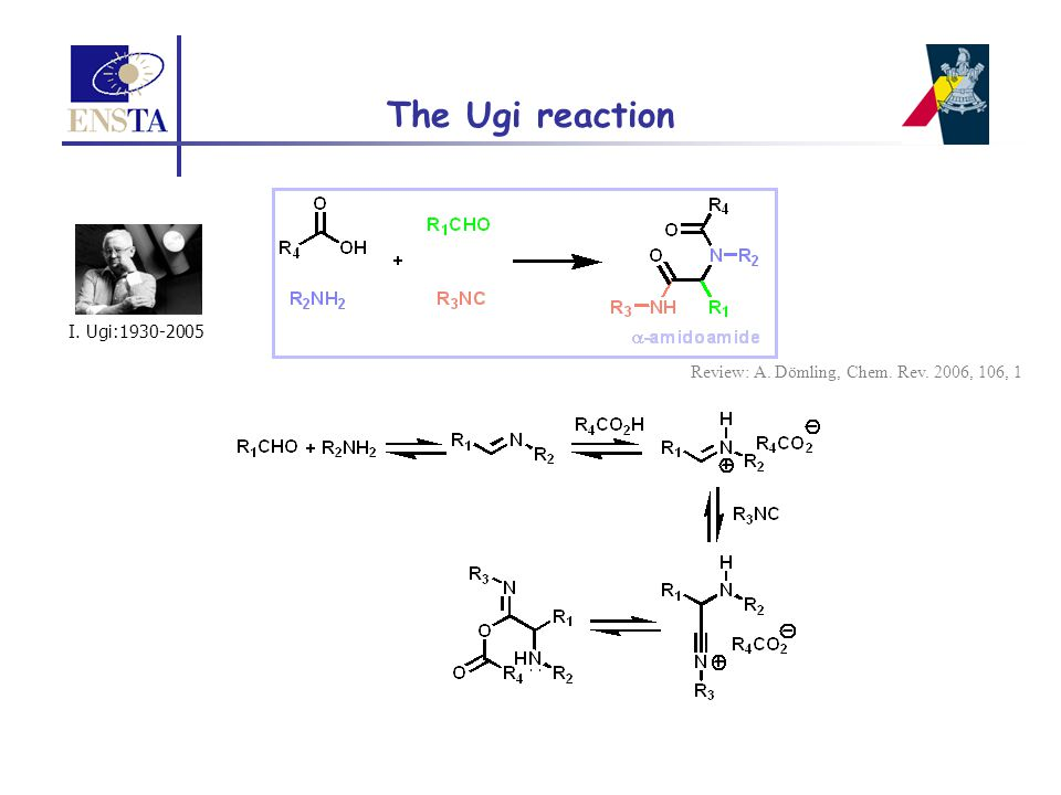  Importance of the Smiles 5-membered transition state Spiro [6,4] intermediate too much tightened Impossiblility to form a spiro [6,8] intermediate Ugi-Smiles coupling with nitrophenols Variation of the amine component Lower nucleophilicity of aromatic amine
