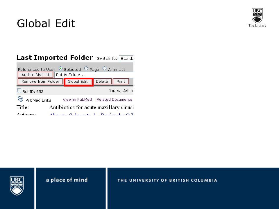 Global Edit