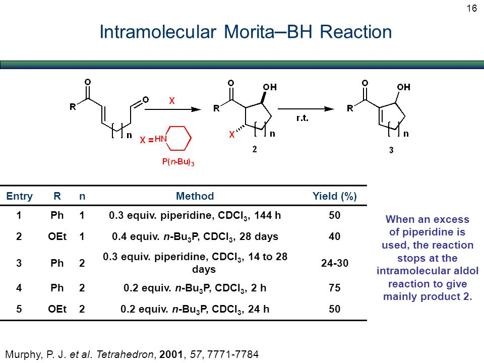 Intramolecular Morita – BH Reaction Murphy, P. J.