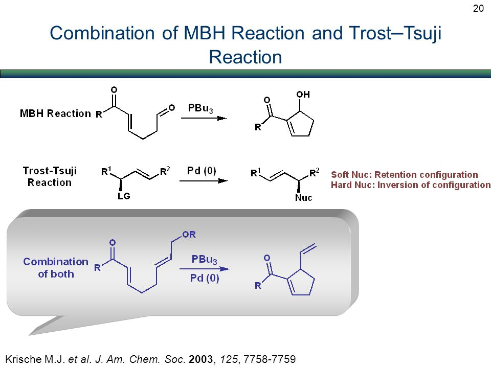 Combination of MBH Reaction and Trost – Tsuji Reaction Krische M.J.