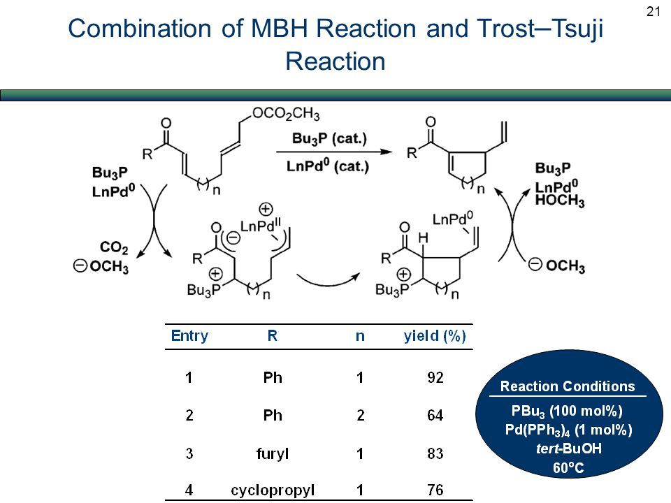 Combination of MBH Reaction and Trost – Tsuji Reaction 21