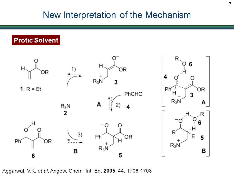 Protic Solvent New Interpretation of the Mechanism 7 Aggarwal, V.K. et al. Angew. Chem. Int. Ed. 2005, 44, 1706-1708