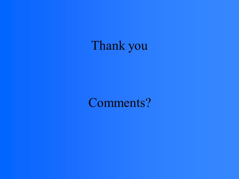 Thank you Comments