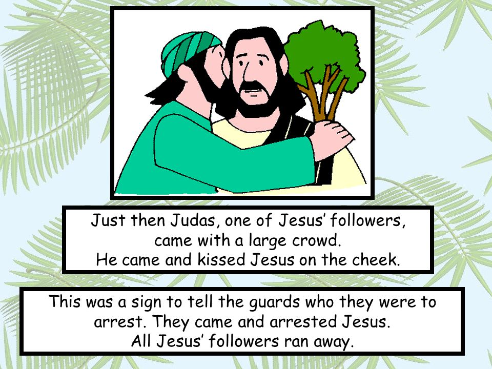 The crowd took Jesus to a trial held by the Jewish religious leaders.
