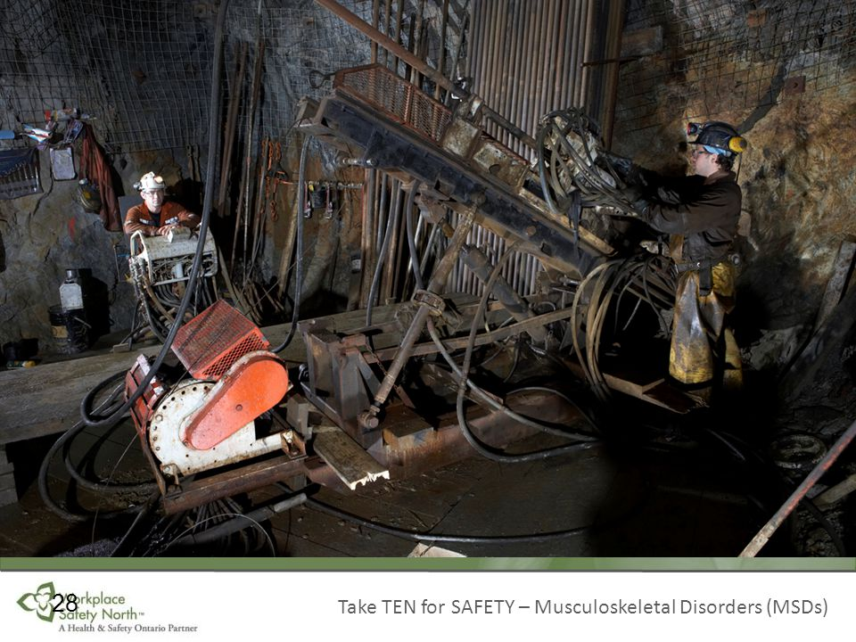 Take TEN for SAFETY – Musculoskeletal Disorders (MSDs) 28