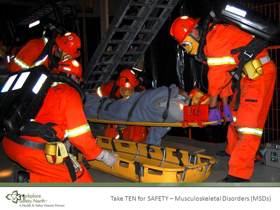 Take TEN for SAFETY – Musculoskeletal Disorders (MSDs) 31