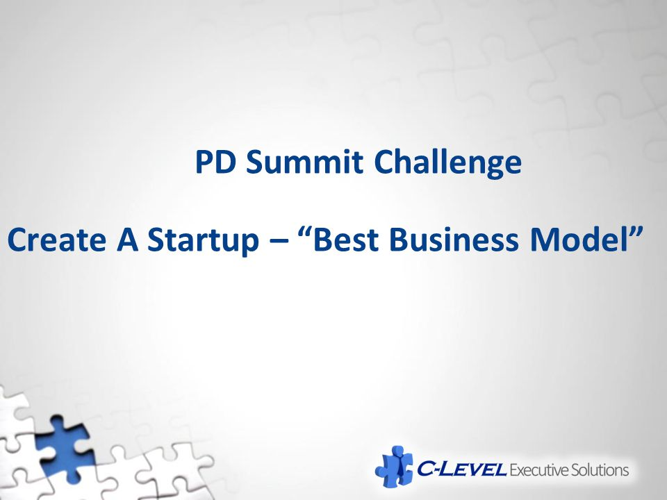 "PD Summit Challenge Create A Startup – ""Best Business Model"""