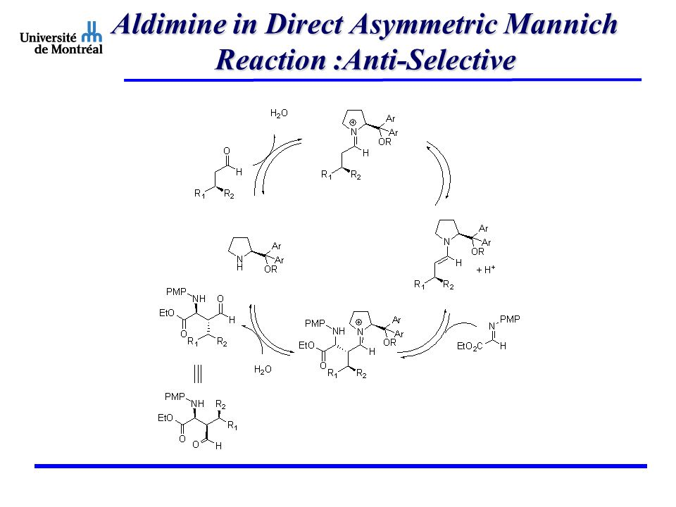 Aldimine in Direct Asymmetric Mannich Reaction :Anti-Selective