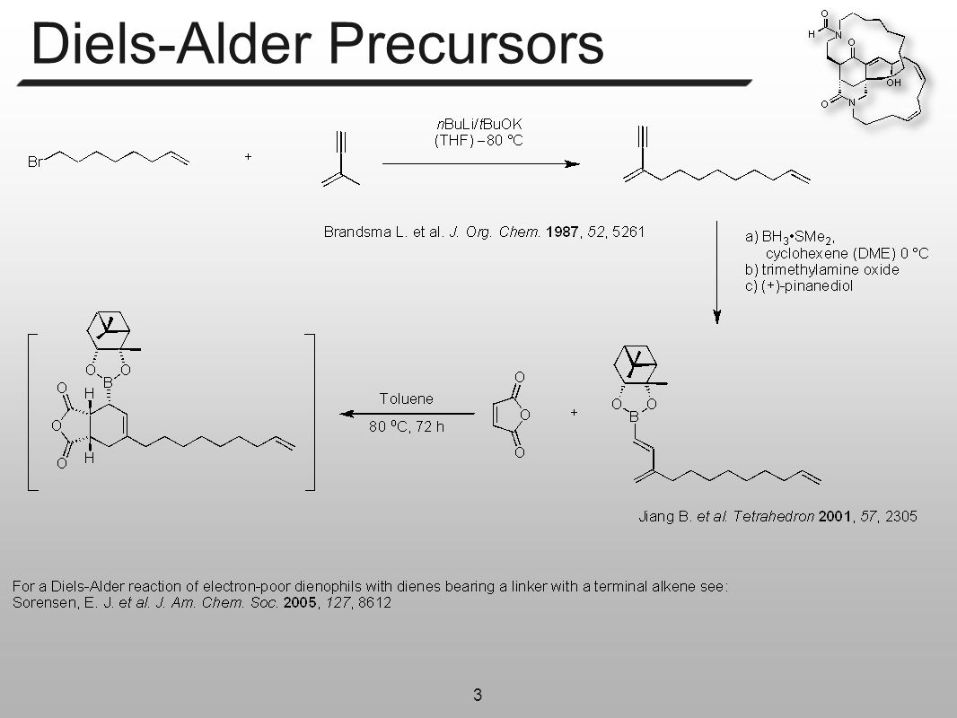 3 Diels-Alder Precursors