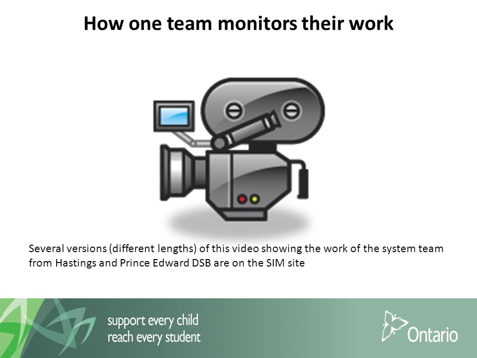 How one team monitors their work Several versions (different lengths) of this video showing the work of the system team from Hastings and Prince Edward DSB are on the SIM site