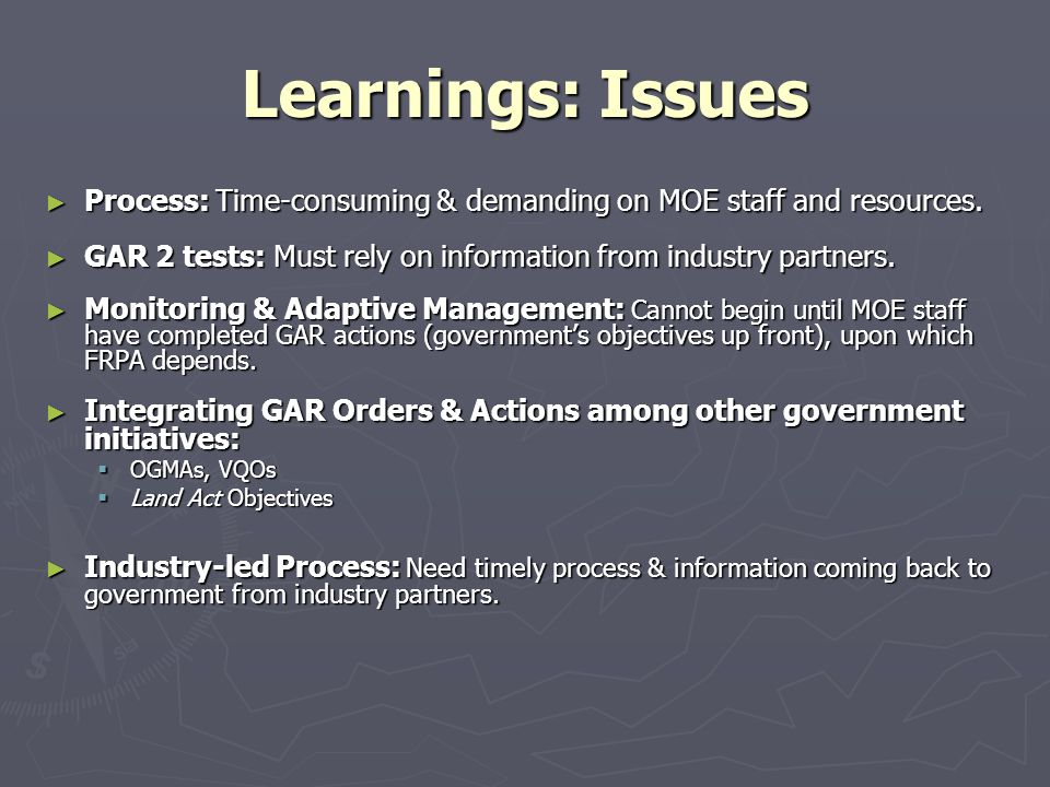 Learnings: Issues ► Process: Time-consuming & demanding on MOE staff and resources.