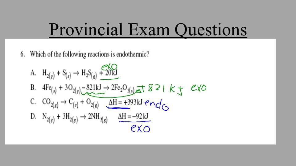 Provincial Exam Questions