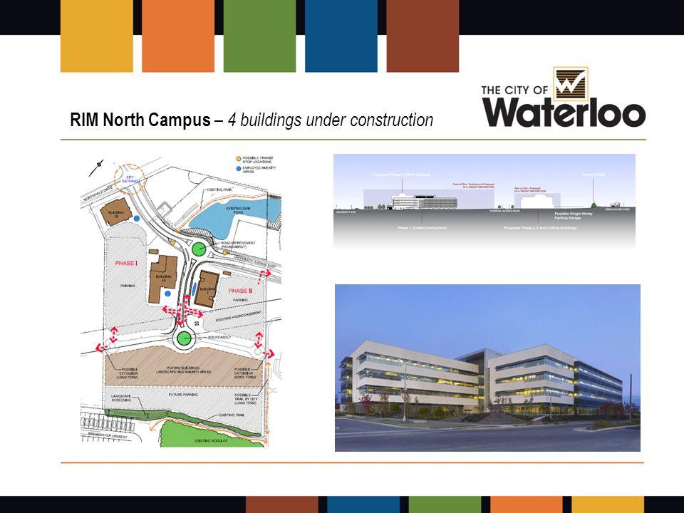 RIM North Campus – 4 buildings under construction